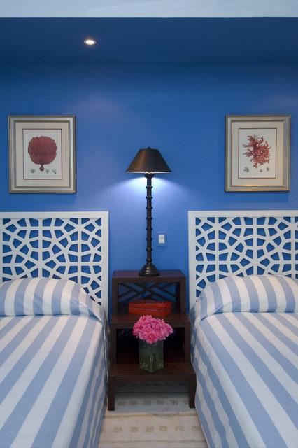 Jerry Jacobs Design: Interior Design San Francisco Bay Area tropical-bedroom