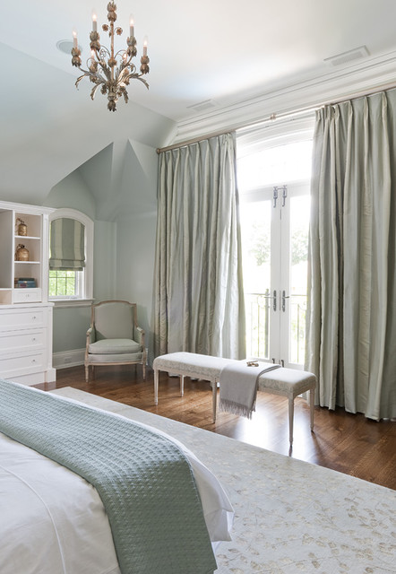 Jill Greaves Design Master Bedroom with Custom Drapery and Furntiure traditional-bedroom