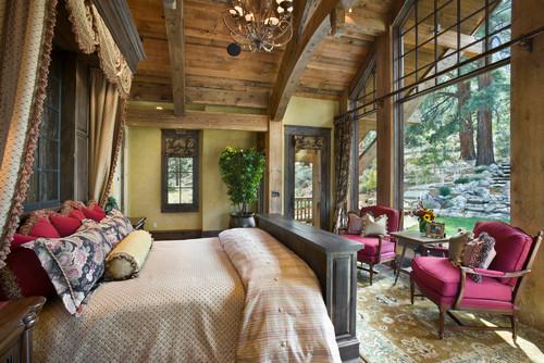 деревянная спальня в доме