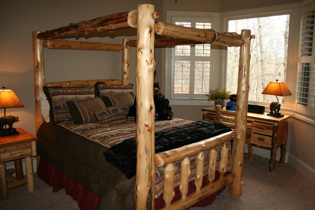 Jones mountain home rustic bedroom atlanta by lakota cove Mountain home bedroom furniture