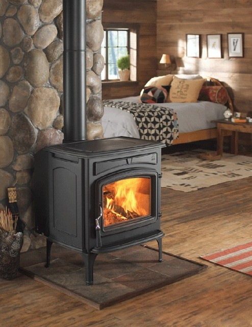 Jotul S F 55 Carrabassett Wood Stove American Traditional Bedroom Denver By Home And Hearth Outfitters