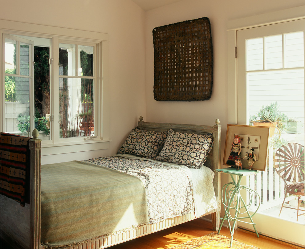 Inspiration for an eclectic bedroom remodel in Los Angeles