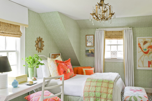 How do you decorate sloped walls?