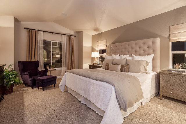 Interior Taupe Bedroom Ideas taupe bedrooms houzz elegant carpeted bedroom photo in denver with gray walls