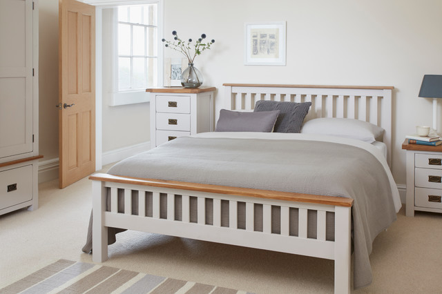 Kemble Rustic Oak And Painted Bedroom Contemporary Bedroom