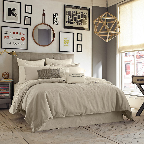 Kenneth Cole Reaction Home Mineral Linen Cotton Duvet Cover In
