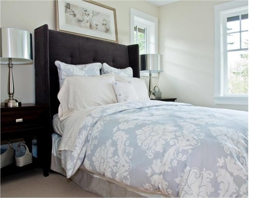 damask blue bedding