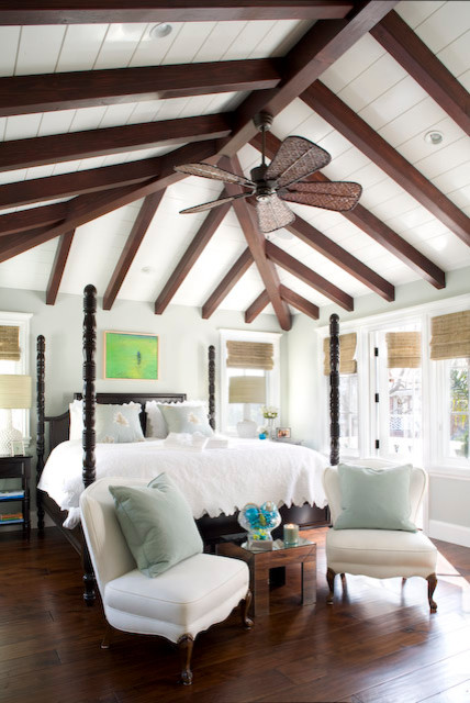 Key West Island Inspired Architecture tropical-bedroom