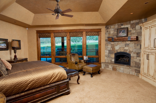 keystone ranch home brasada ranch style homes rustic bedroom - Western Design Homes