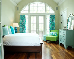 Kiawah Family Home eclectic bedroom