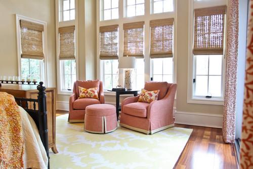 bamboo roman blinds, Bedroom decor