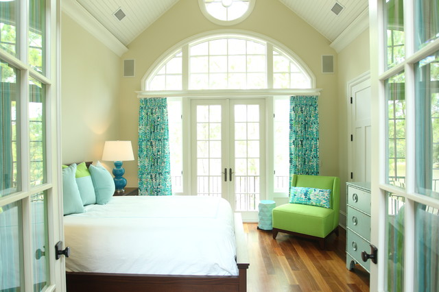Kiawah Vacation Home eclectic bedroom
