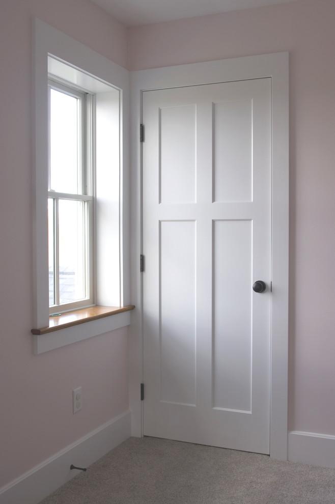 Kids Bedroom Door 4 Panel White Painted Wood Farmhouse Bedroom Cleveland By Homestead Doors Inc