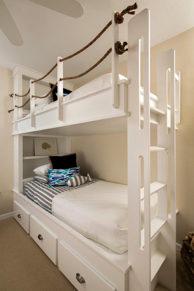 Kids Built In Bunks Beach Style Bedroom Tampa By Stonebreaker Builders Remodelers