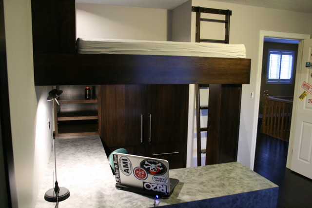 Kids Room To Mini Man Cave Traditional Bedroom Toronto By Jws Woodworking And Design Inc