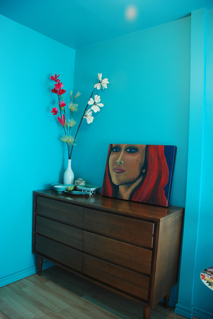 kim Teal dressing room1 eclectic bedroom