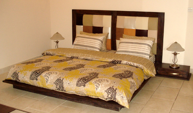 King Size Bed Set Low Rise Modern Bedroom Other