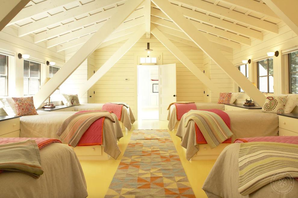 Bedroom - traditional bedroom idea in Boston