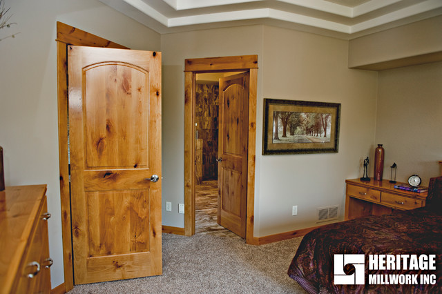Knotty Alder Interior Doors Modern Bedroom