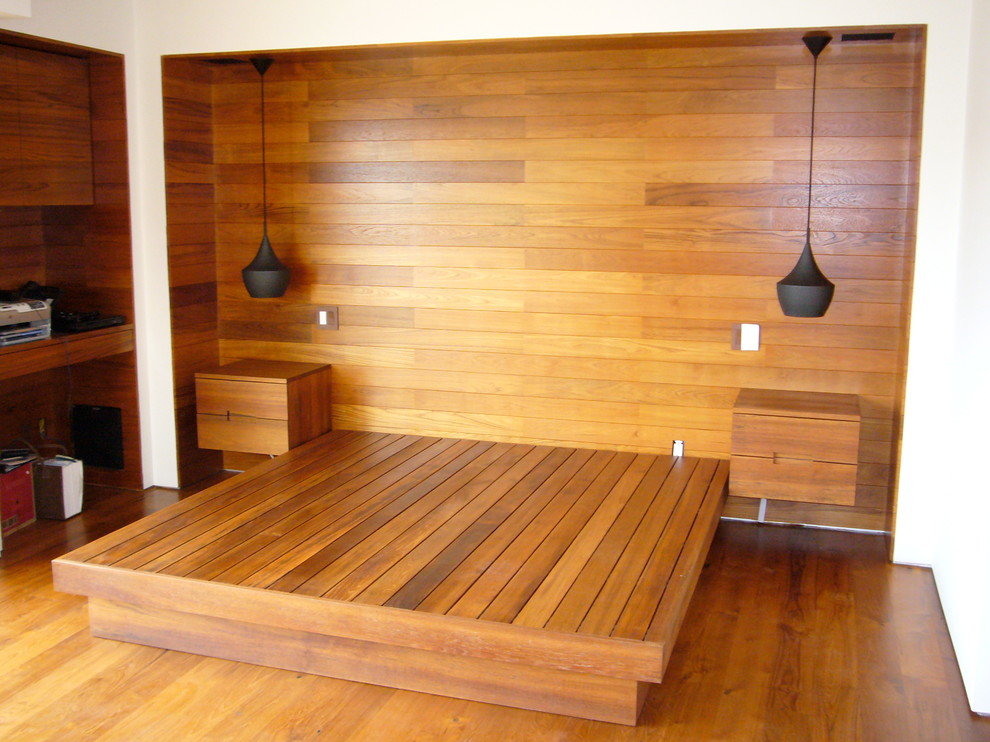 Koa Wood Guest Room Modern Bedroom Other By Sergio Raynal Fine Custom Woodworking