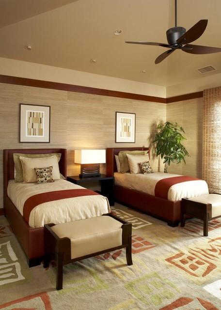 Kuikawa 4 twin room asian-bedroom