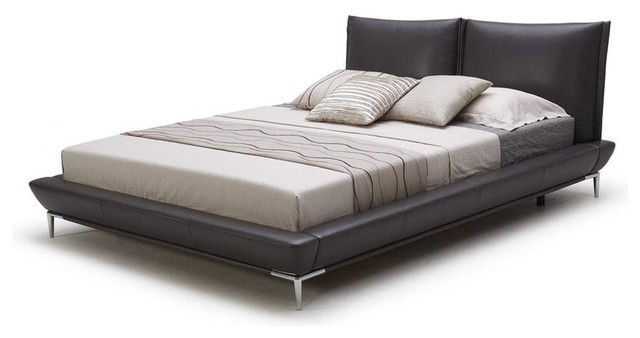 Kuka modern platform bed with aesthetic stainless steel - Stainless steel bedroom furniture ...