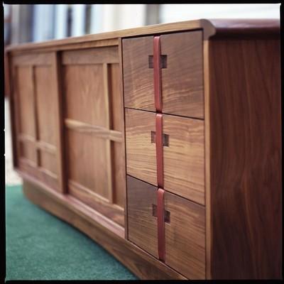 kyoto console cabinet in walnut by michael yates design asian bedroom bedroom furniture pulls