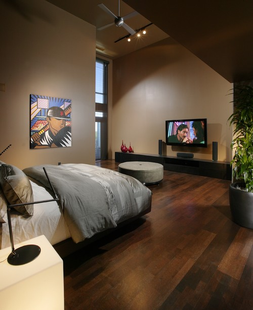 L Street Penthouse, Sacramento CA contemporary bedroom