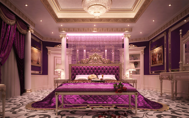 La marquise palace eclectic bedroom other metro for Royal bedroom interior design photos