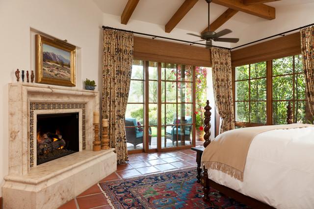 Window Treatments. La Quinta mediterranean-bedroom