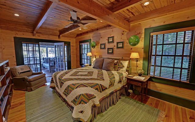 Lake Burton Custom Homes Rustic Bedroom Atlanta By