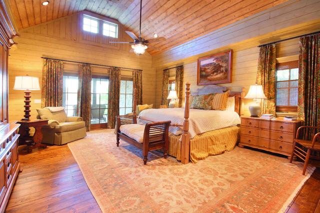 Lake Chatuge Fishing Lodge rustic-bedroom