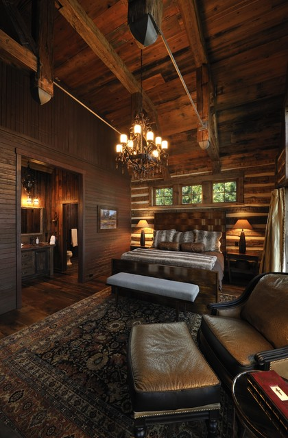 Lake Country Builders rustic-bedroom
