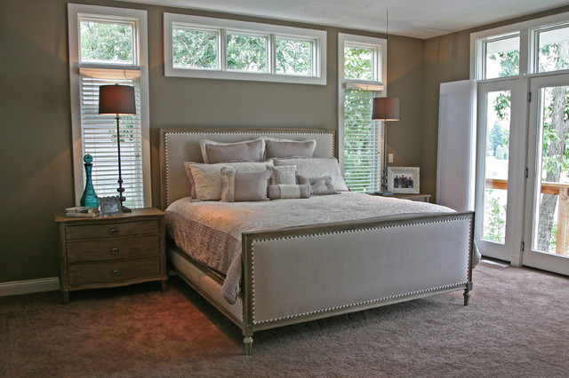 Lake House Contemporary Bedroom