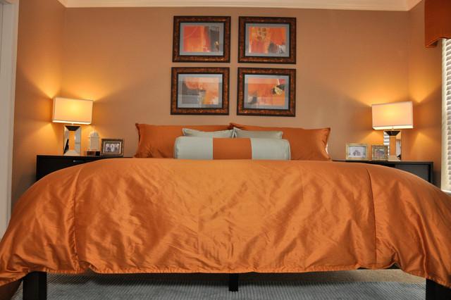 Lake Mary Modern Style Condo Contemporary Bedroom