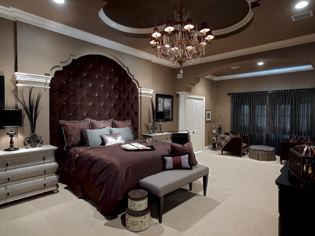 lake mary rustic style residence - traditional - bedroom - orlando