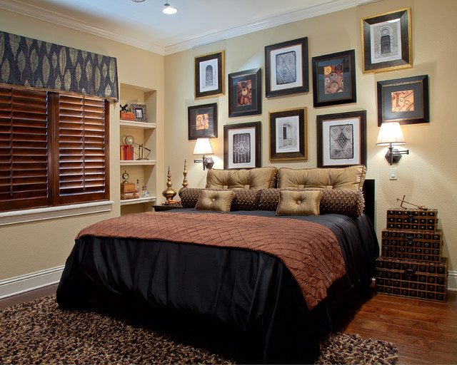 lake mary rustic style residence  traditional  bedroom  orlando,