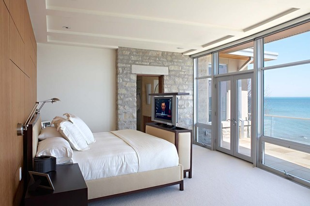 Bon Lake Michigan House Modern Bedroom