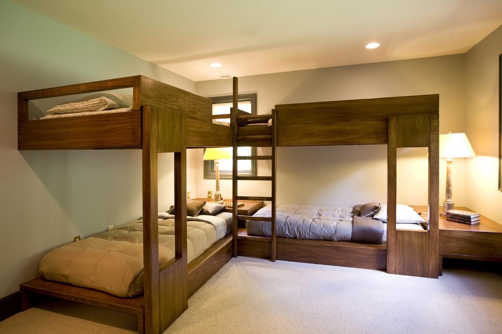 Trendy guest bedroom photo in New York
