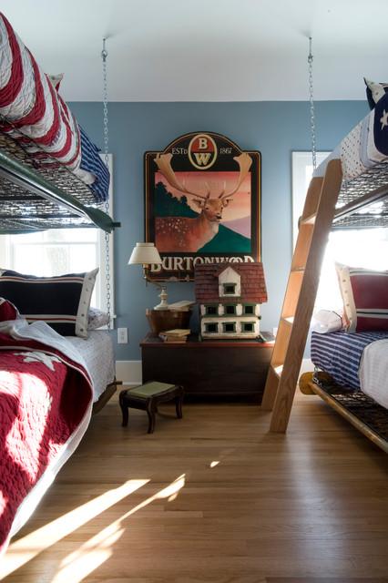 Lake Minnetonka Cottage rustic-bedroom