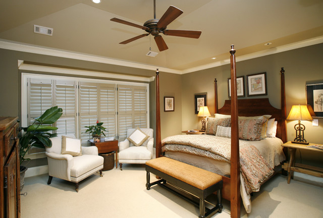 Lake Oconee Residence- Master Bedroom traditional-bedroom