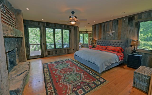 Lake Rabun Custom Homes rustic-bedroom