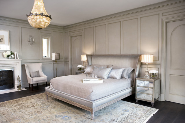 Lake residence transitional bedroom by linda mcdougald design postcard from paris home Master bedroom ideas houzz