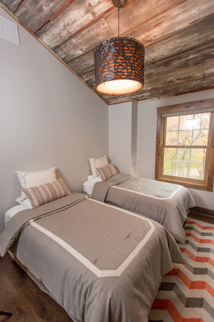 Lake retreat rustic bedroom minneapolis by abode for Co interior