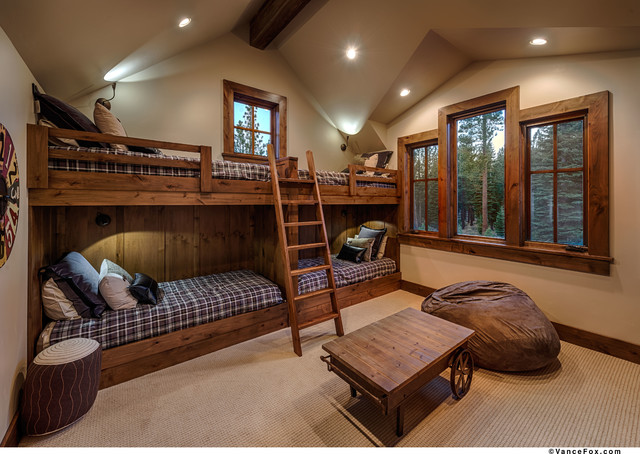 Lake tahoe ski chalet rustic bedroom sacramento by - Mini camere da letto ...