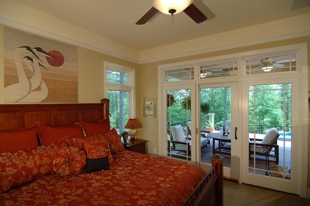 Lakefront Airpark eclectic-bedroom