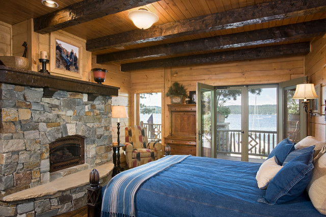Lakeside Luxury Getaway Rustic Bedroom Other Metro By