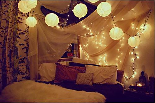 lanterns eclectic bedroom. lanterns