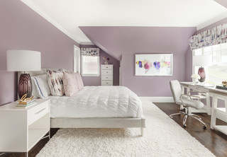 75 Graue Schlafzimmer Mit Lila Wandfarbe Ideen Bilder Februar 2021 Houzz De