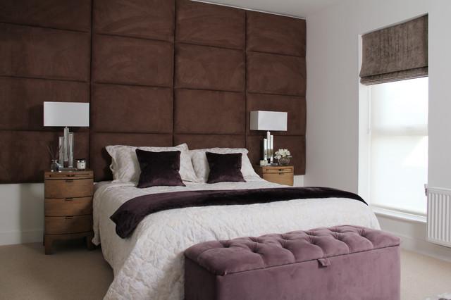 Large Padded Headboard Mediterranean Bedroom Hertfordshire By Fishpools Furniture Store